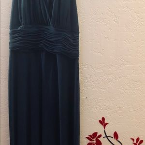 Beautiful long green evening gown